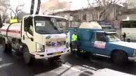 عملیات ضدعفونی و گندزدایی معابر شمال تهران